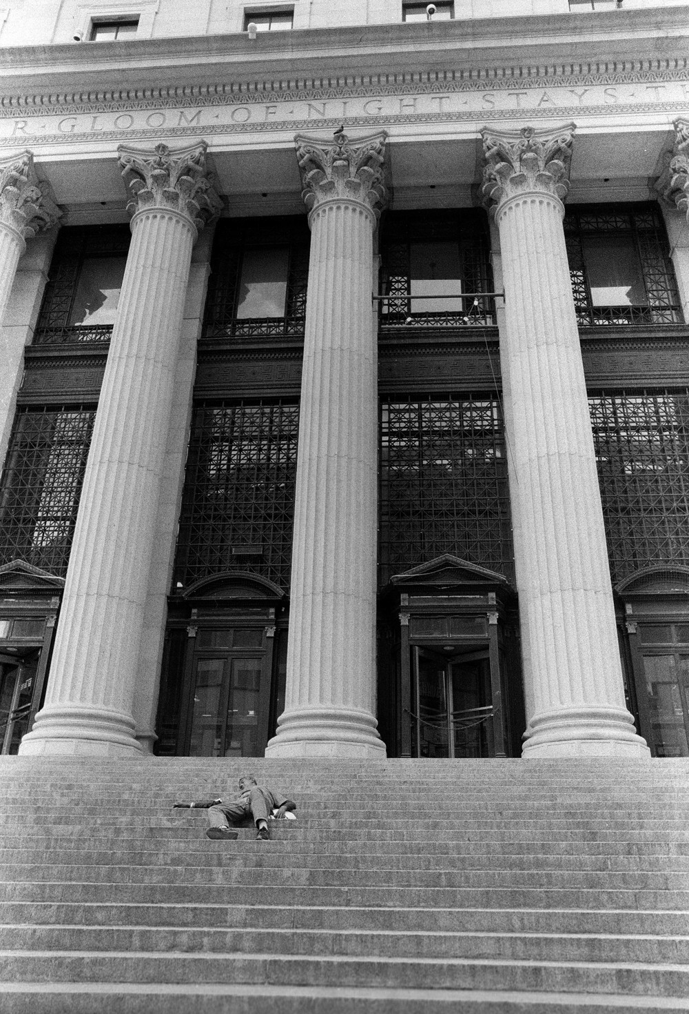 Nap on the Steps, NYC - 2014