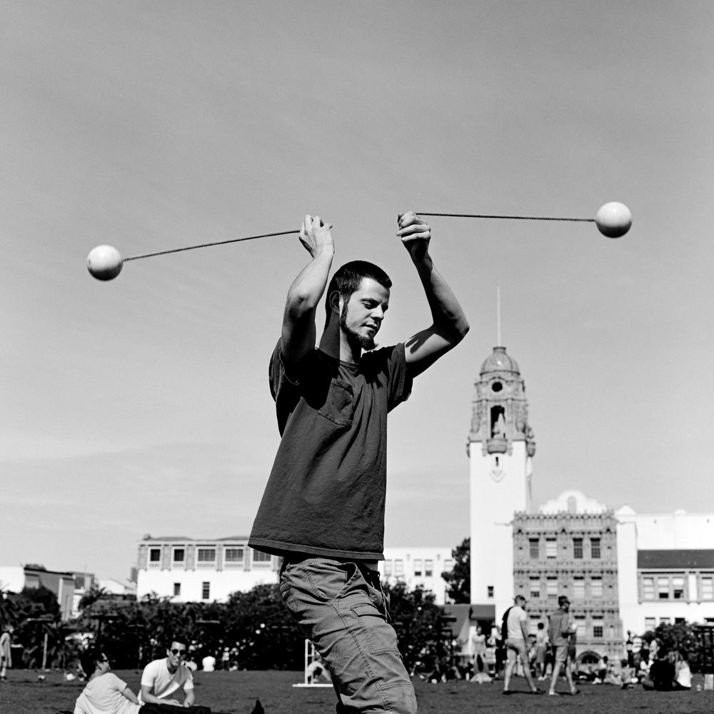 Poi Juggler, San Francisco - 2016