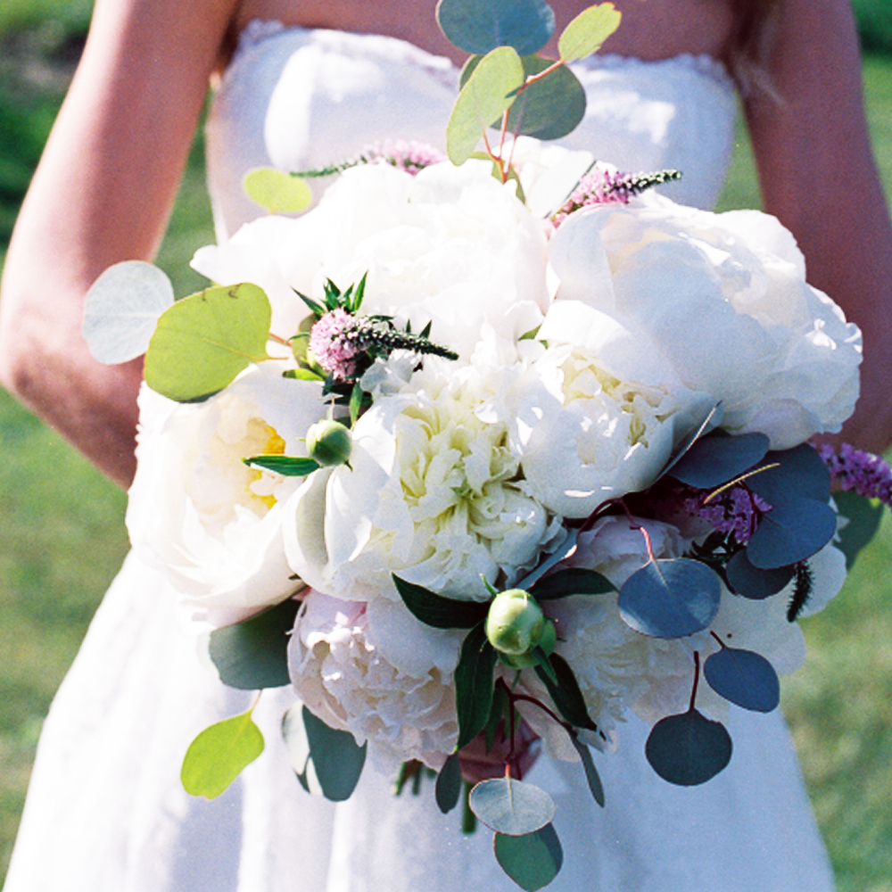 Bouquet by Cairn Events on Peaks Island. Maine Film Wedding Photography by Audra Bayette