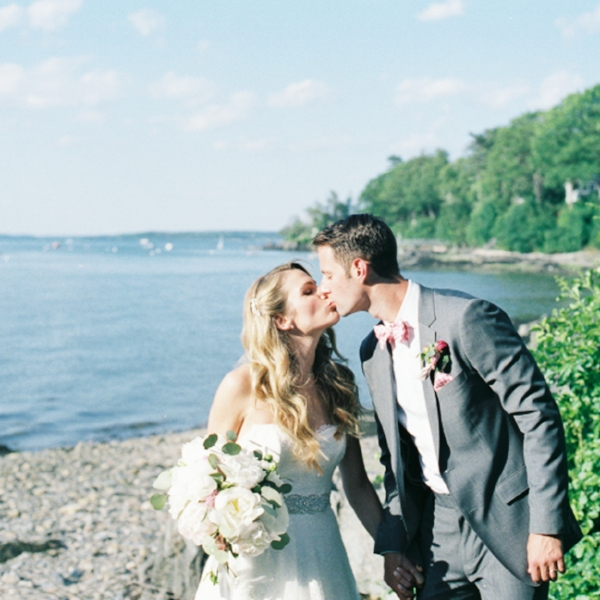 Wedding on Peaks Island Maine Film Wedding Photography via Audra Bayette