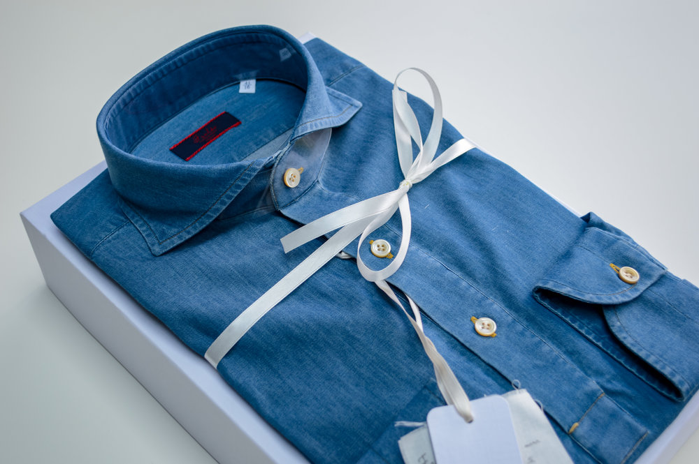 Atlas Bespoke London Tailor appointment trunk show Denim Shirt 2 - Copy (2).jpg