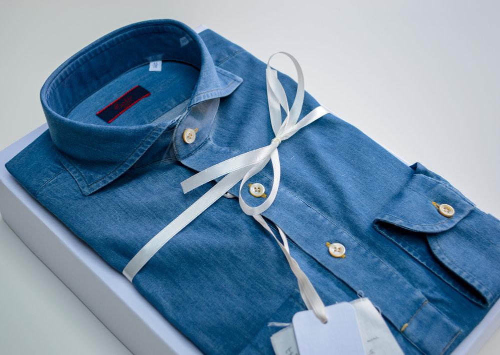 Atlas Bespoke London Tailor appointment trunk show Denim Shirt 2 - Copy (2) copy.jpg
