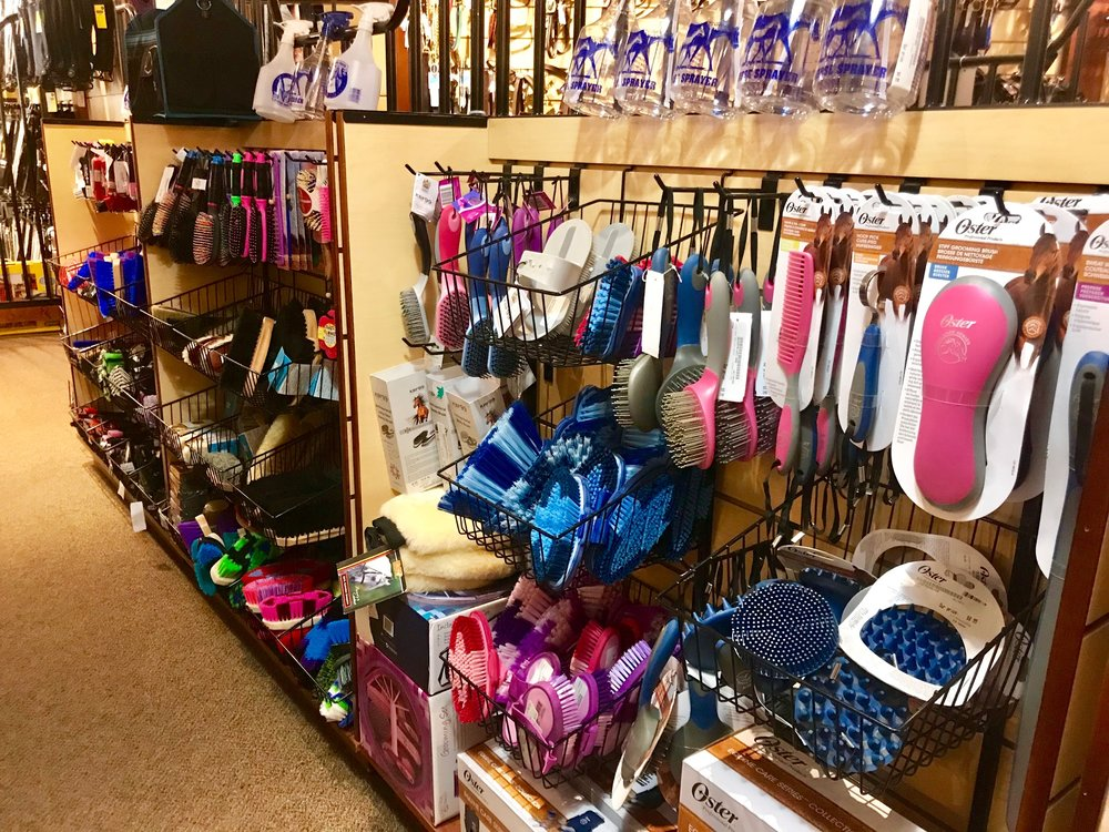 There are lots of options at Dover Saddlery, from tack to grooming supplies, saddle pads to crops.