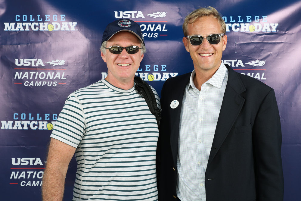 Scott Treibly with ESPN's Patrick McEnroe at College MatchDay.