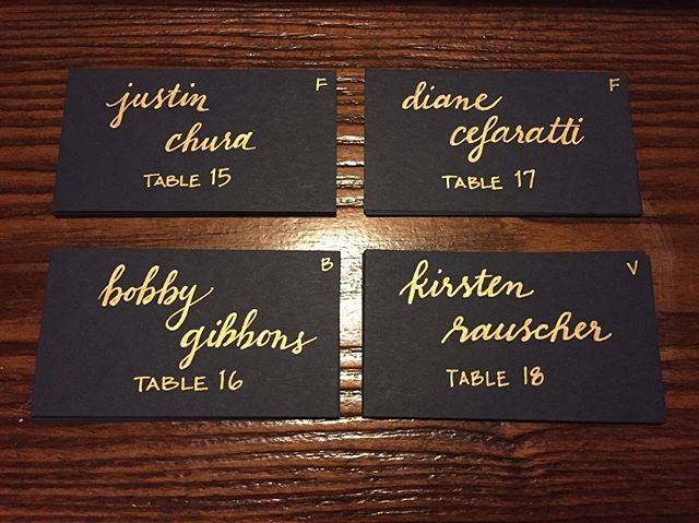 Add-on to any of our wedding packages    Handwritten escort cards to show your guests where they will be sitting for your event! 🖌📝🕯