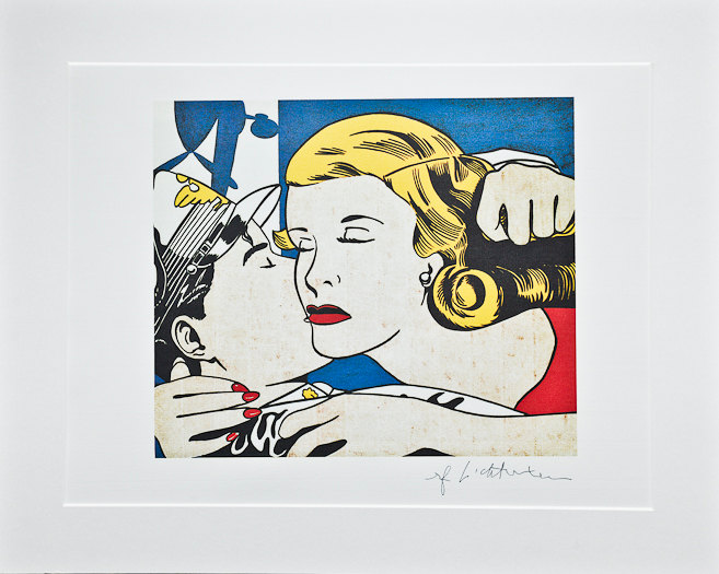 'Roy Lichtenstein, The Kiss (C. 1982) - Signed
