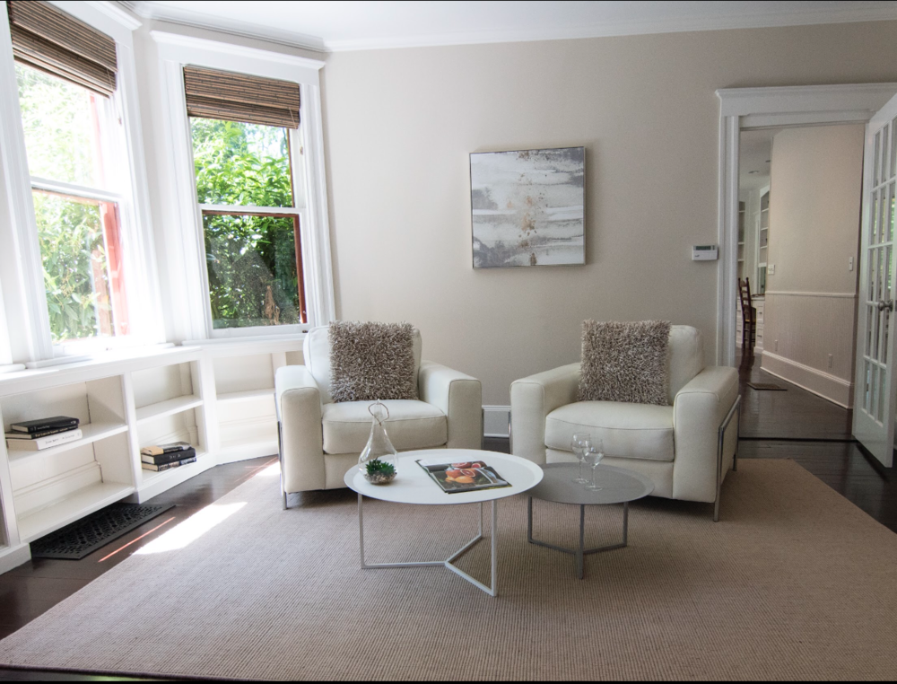 According to studies, the living room is the most important room to stage in a house.