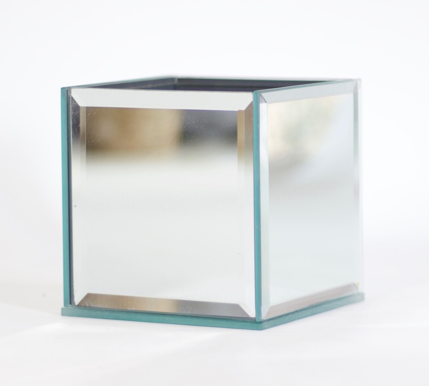 Mcv1mcv2 Mirrored Cube Vase Flowers With Passion