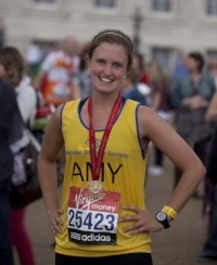 Amy Gasson London Marathon picture Ibuprofen blog