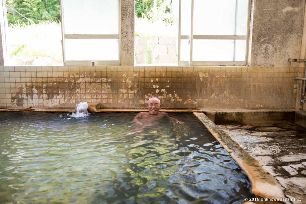 udomaru onsen, bather