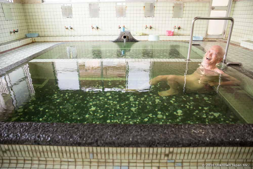 Tanoyu Onsen, bather