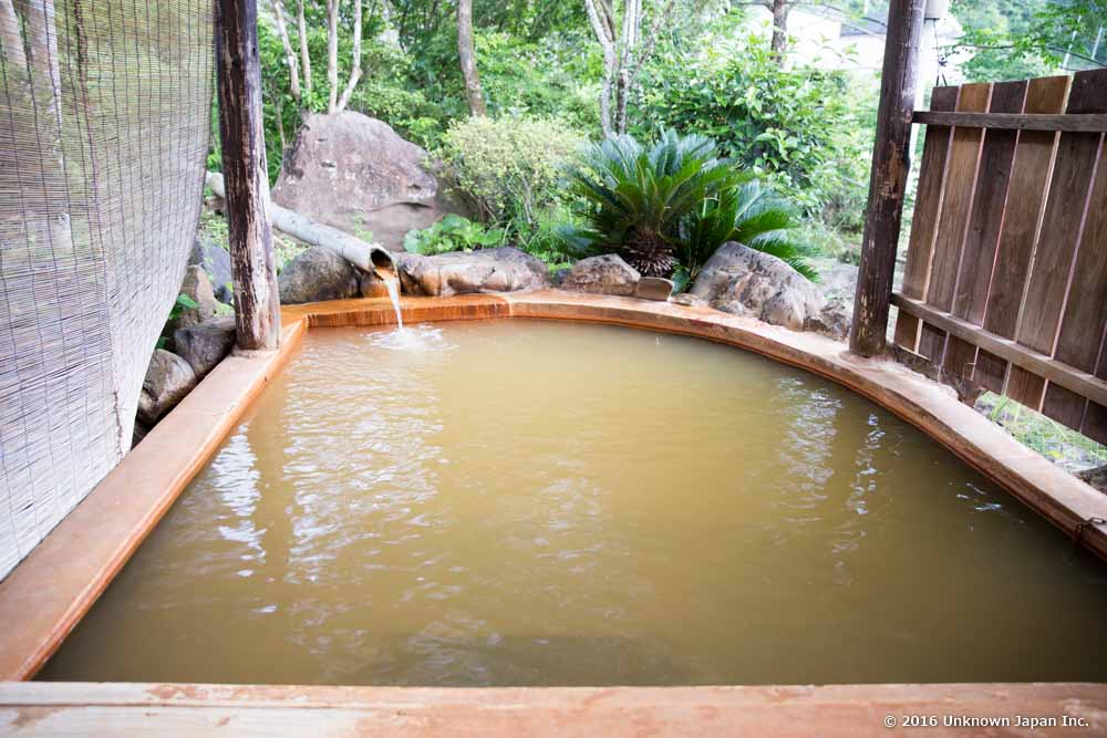 Suwa onsen, open air bath