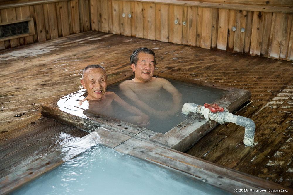 Yunotani Sanso, bathers