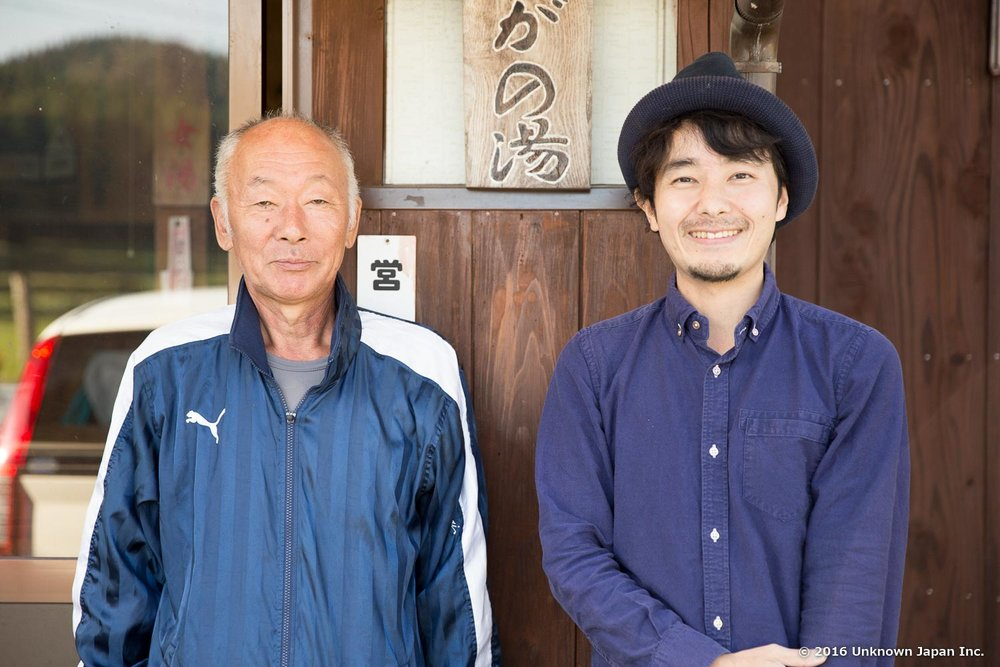 With the owner  Mitsuki Okubo , in front of the entrance