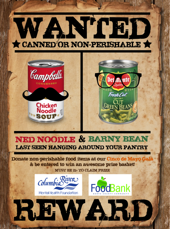We are partnering with the North County Food Bank for our Spring Gala! For every non-perishable food item you bring to the event, you get a raffle ticket that enters you to win an awesome (21+) prize basket! All donations will go to the North County Food Bank. So don't forget to bring non-perishable food donations to the Gala & help out the North County Food Bank!