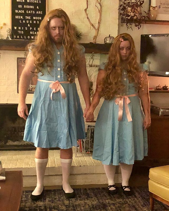 Come play with us, Danny....forever...and ever..and ever.  #gradytwins #theshining #halloween2017 #redrum