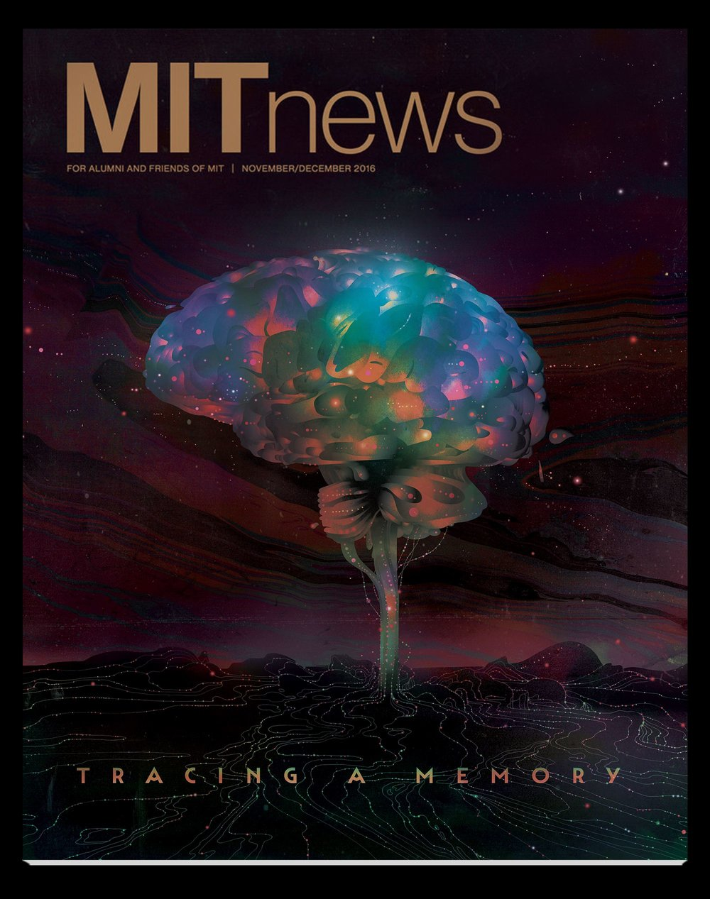 November MIT News cover: Tracing a Memory