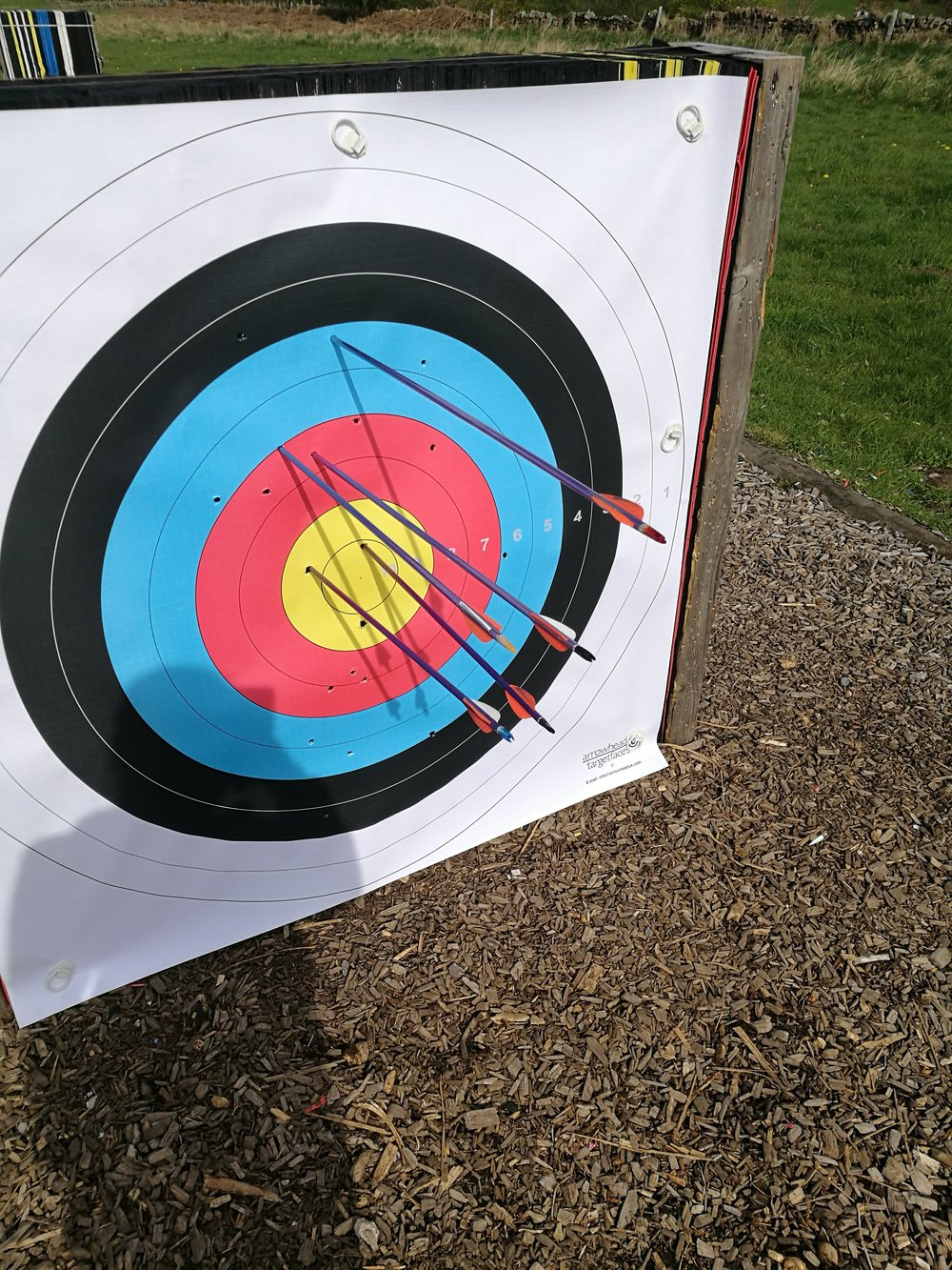 My second go at archery. Turns out I'm quite good!