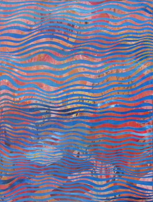 Perry Burns  Blue Current , 2009 oil on canvas 48 x 36 in.