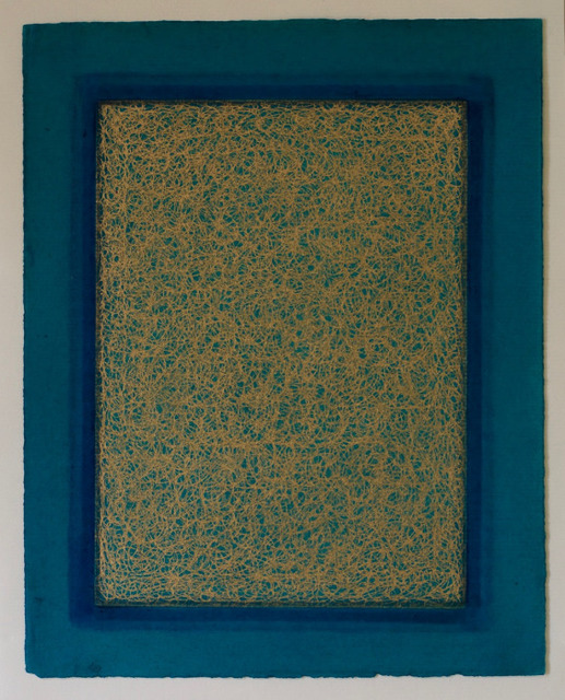 Olivia Munroe  Histories, 247 , 2016 beeswax, ink, metallic powder on vintage hand made paper 9 3/4 × 7 31/50 in. (24.8 × 19.4 cm.) SOLD