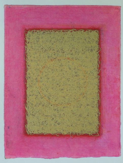 Olivia Munroe  Histories, 251 , 2016 beeswax, ink, metallic powder on vintage hand made paper 9 3/4 × 7 5/8 in.  SOLD