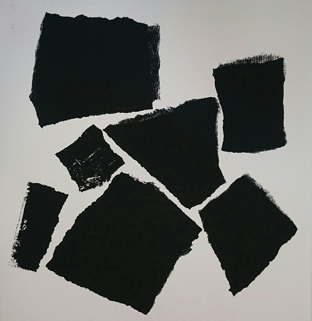 Charlotte Culot  Black , 2016 serigraph 29 1/2 × 22 in. edition of 10