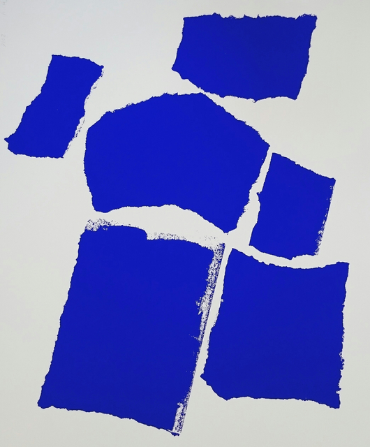 Charlotte Culot  Blue , 2016 serigraph 29 1/2 × 22 in. edition of 10