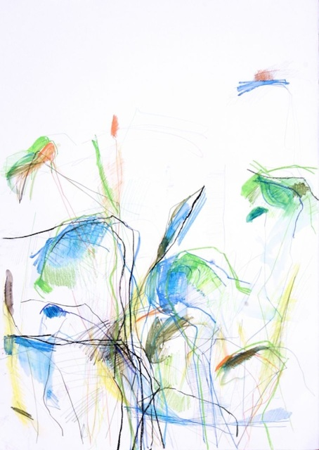 Michael Rich  Fresh Start , 2014 mixed media on paper 30 × 22 in.