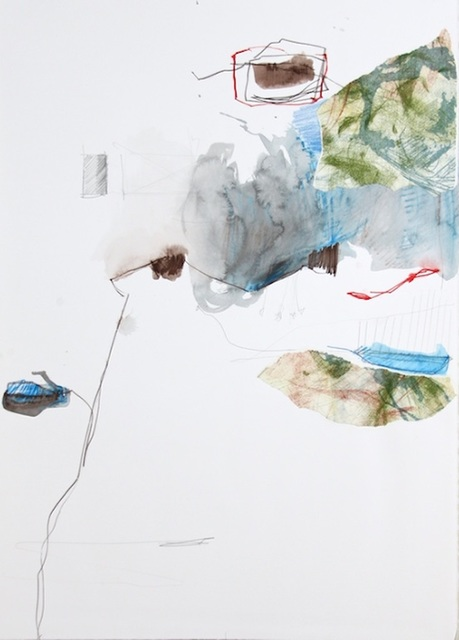 Michael Rich  Tendrils 11 , 2015 mixed media on paper 30 × 21 in.