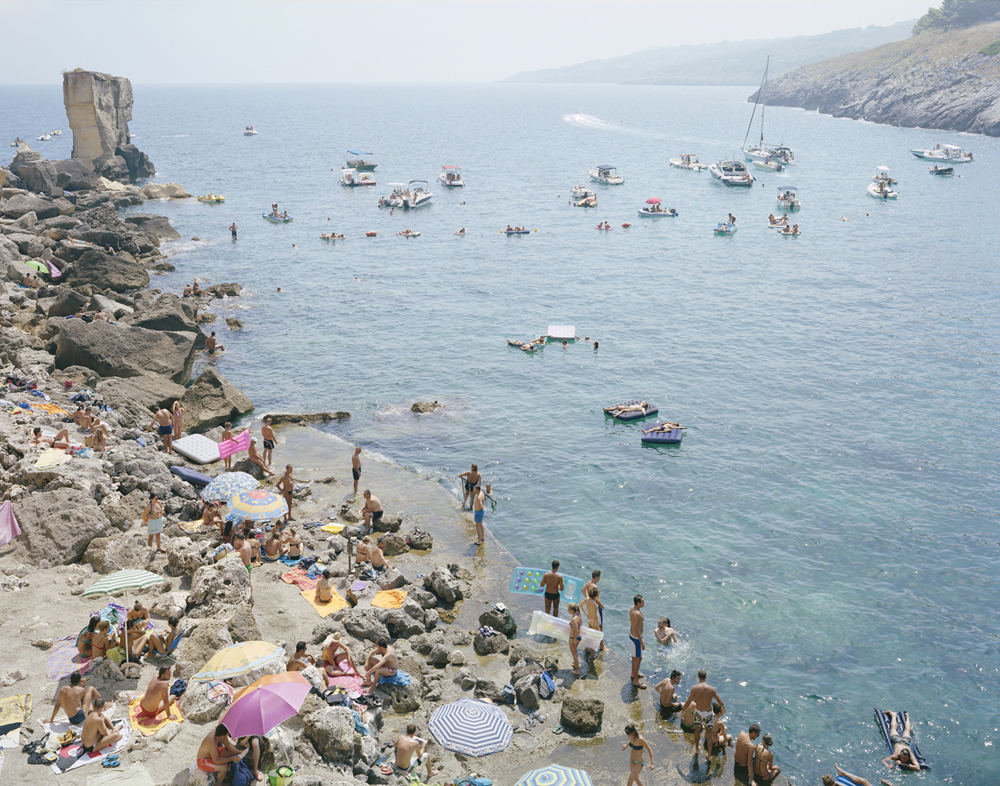 Massimo Vitali  Porto Miggiano, Puglia , 2011-2013 chromogenic print with Diasec mount 74 x 95 in. edition of 6