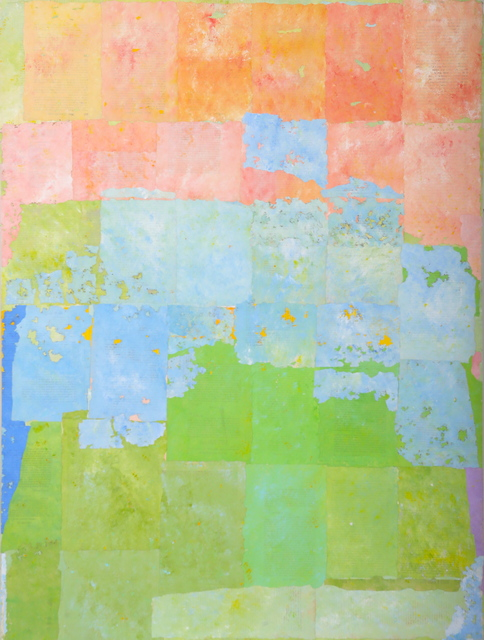 Charlie Miesmer  Three Field Collage #2 , 2003 mixed media 48 × 36 in.