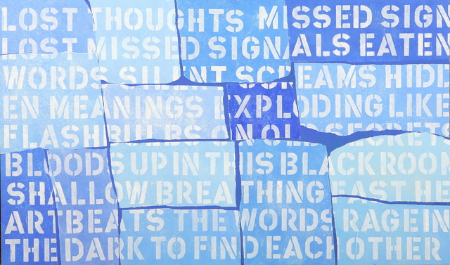 Fight , 2010 Mixed Media 24 × 40 in. (61 × 101.6 cm)