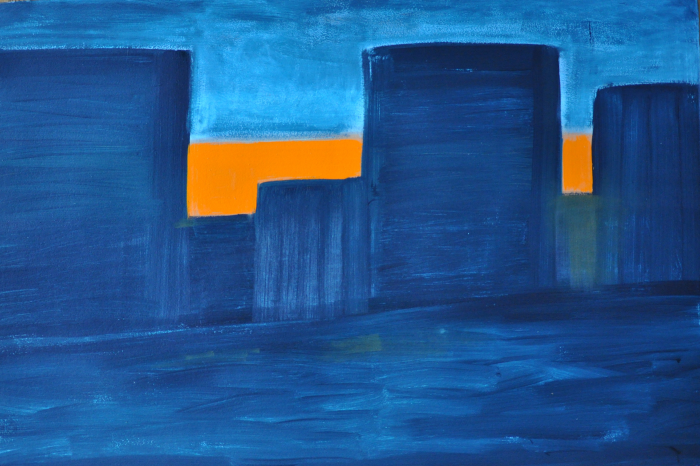 Kathryn Lynch  Orange City Sunset  oil on paper 40 1/4 x 60 in.