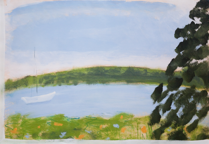 Kathryn Lynch  View from Upstairs , 2009 oil on paper 24 1/2 x 31 1/2 in.   SOLD