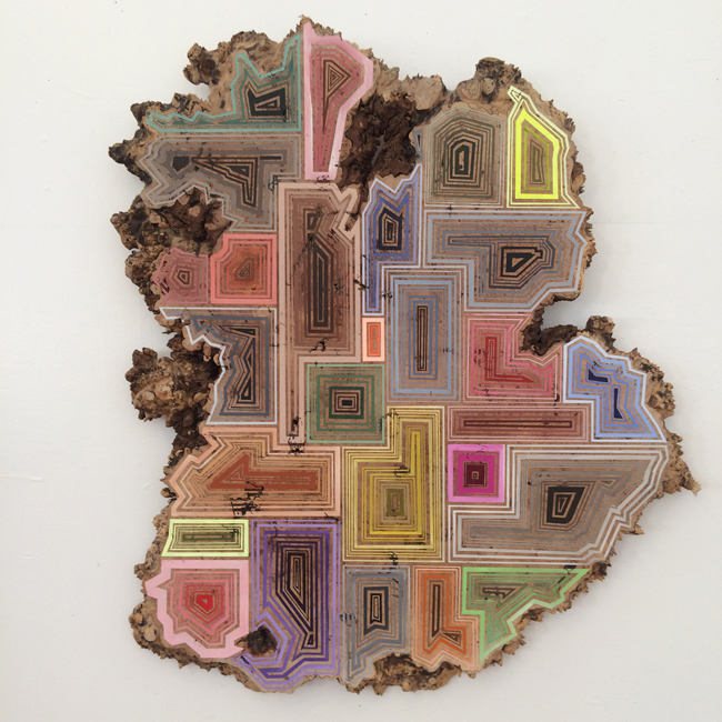 Jason Middlebrook  Twenty-Nine Ways to Get Your Groove On,  2014 acrylic on maple 34 1/2 x 36 1/2 x 2 in.