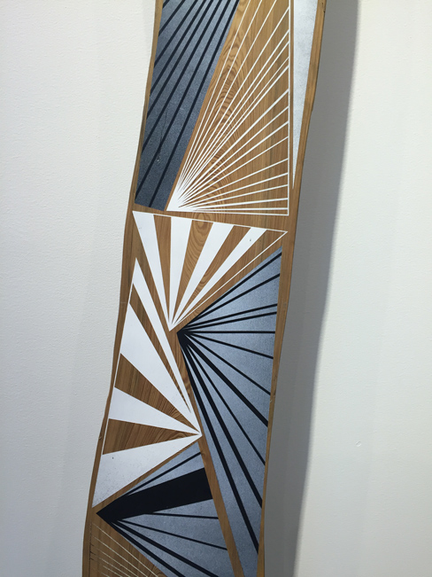 Jason Middlebrook  Taken from the Savannah River #3,  2013 double-sided plank, acrylic on cypress 165 1/2 x 10 x 1 in.