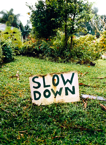 Gustavo Ten Hoever  Slow Down , 2006 c-print 30 x 23 in.