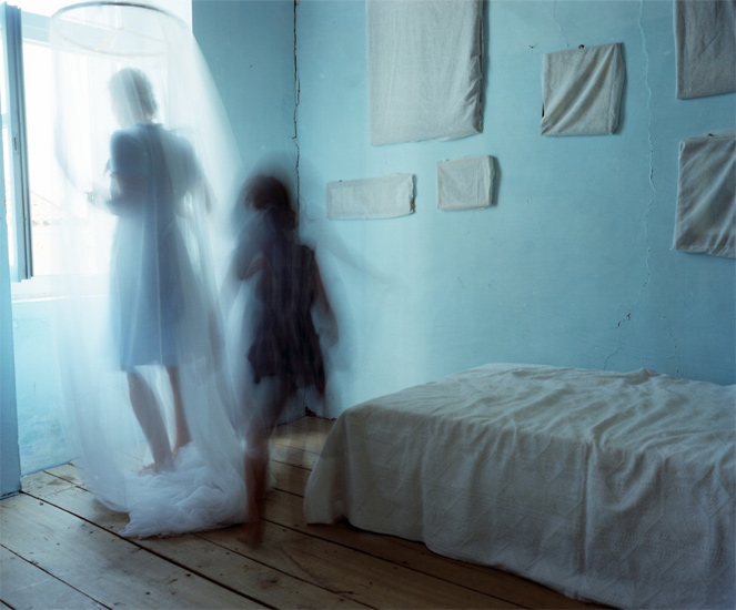 Bastienne Schmidt  Turquoise Room and Wrapped Photographs, Samos,   2008  ,  2008 c-print 30 x 40 in. (edition of 9) 20 x 24 in. (edition of 15) 16 x 20 in. (edition of 25)
