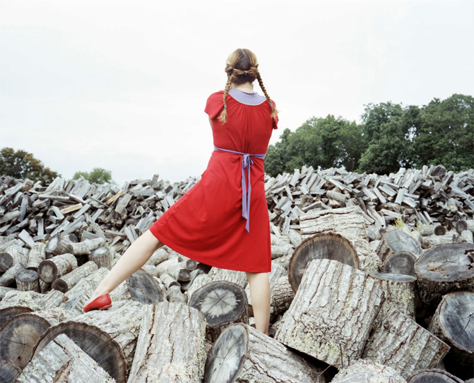 Bastienne Schmidt  The Red Dress, Sagaponack ,  2008 , 2008 c-print 30 x 40 in. (edition of 9) 20 x 24 in. (edition of 15) 16 x 20 in. (edition of 25)