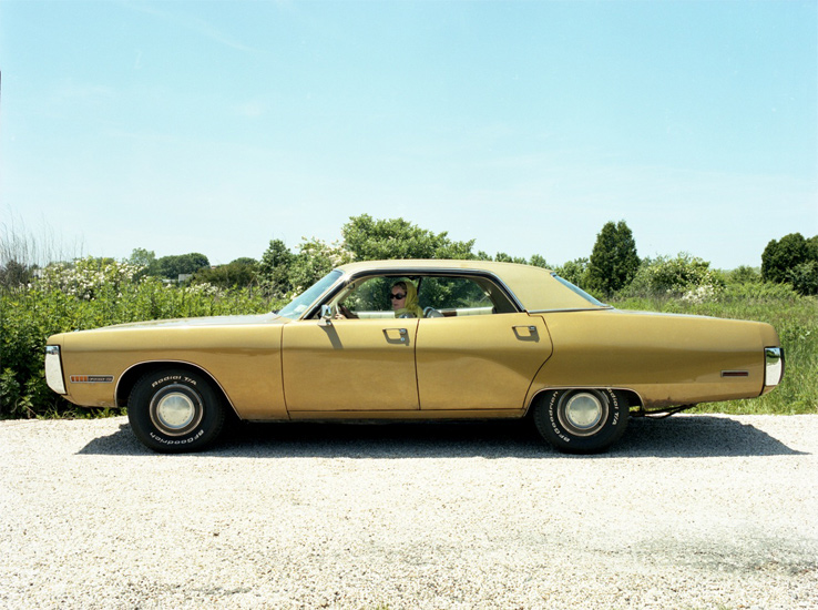 Bastienne Schmidt  Yellow Car, Bridgehampton ,  2005 , 2005 c-print 30 x 40 in. (edition of 9) 20 x 24 in. (edition of 15) 16 x 20 in. (edition of 25)