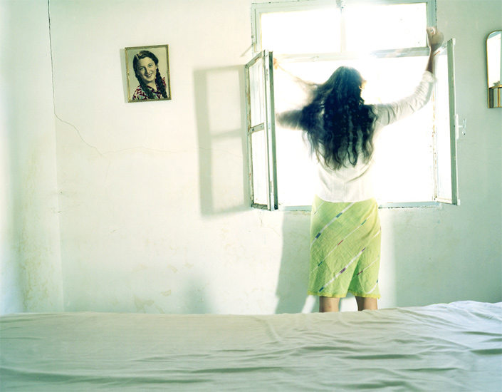 Bastienne Schmidt  Looking Out the Window, Samos, 2004 , 2004 c-print 30 x 40 in. (edition of 9) 20 x 24 in. (edition of 15) 16 x 20 in. (edition of 25)