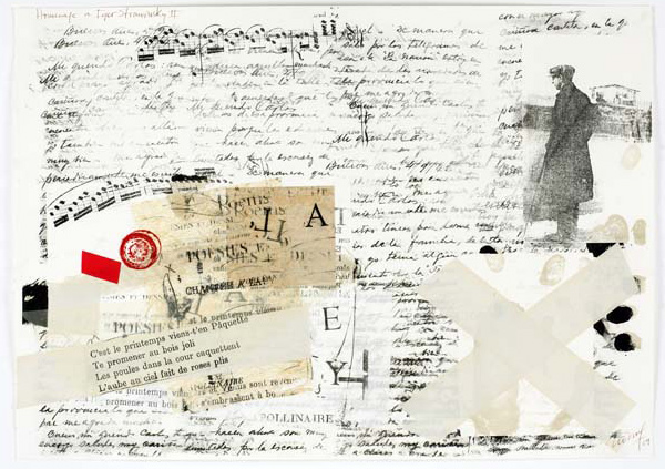 Maria Noel  To Igor Stravinsky II , 2009 mixed media on paper 19 3/4 x 27 1/2 in.