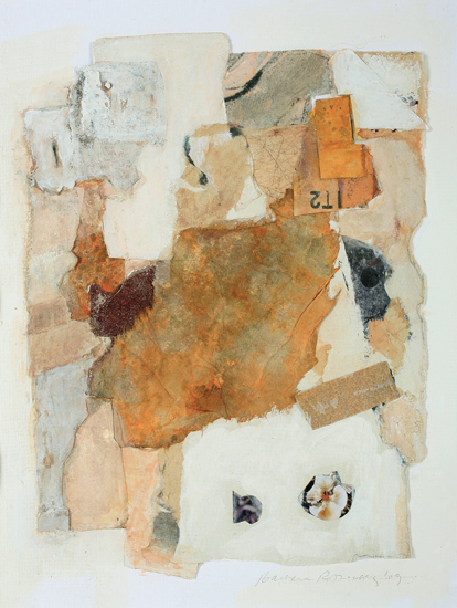Barbara Rothenberg  Untitled (Sandpaper Series),  2011 collage 8 1/2 x 6 1/2 in.