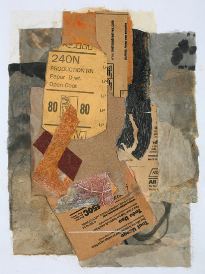Barbara Rothenberg  Untitled (Sandpaper Series),  2011 collage 8 3/4 x 6 3/4 in.
