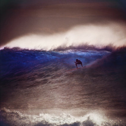 Leroy Grannis  Mickey Munoz, Makaha (No. 71) (1963) , 1963 chromogenic print signed on recto 11 1/2 x 11 1/2 in. portfolio of 12 prints edition of 25
