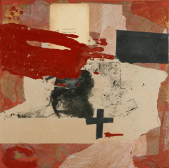 Maria Noel  Catalunyan Love (Acte Premiere) , 2009 mixed media on board 19 x 19 in.