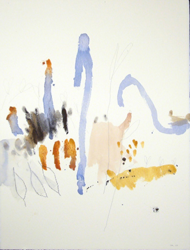 Michael Rich  Tuscania Drawing 45 , 2007 mixed media on paper 30 x 22 in.