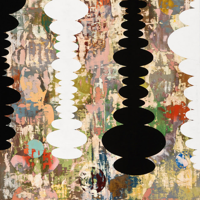 Perry Burns  Goa , 2009 monoprint, gouache, graphite, and watercolor on paper 20 × 20 in.