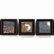 Toni Ross  One Night III , 2016 stoneware and slip 3 3/4 x 20 x 2 in. framed