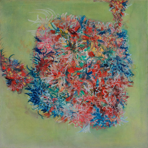 Sylvia Martins  Gebogon  oil on linen 42 x 42 in.
